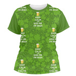 Kiss Me I'm Irish Women's Crew T-Shirt (Personalized)