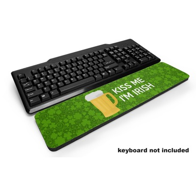 Kiss Me I'm Irish Keyboard Wrist Rest (Personalized)