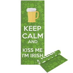Kiss Me I'm Irish Yoga Mat - Printable Front and Back (Personalized)
