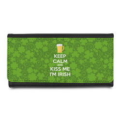 Kiss Me I'm Irish Leatherette Ladies Wallet (Personalized)