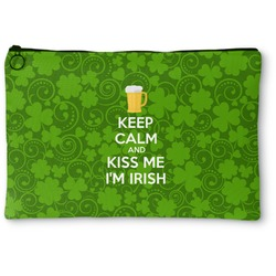 Kiss Me I'm Irish Zipper Pouch (Personalized)
