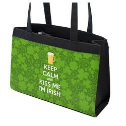 Kiss Me I'm Irish Zippered Everyday Tote (Personalized)