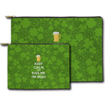 Kiss Me I'm Irish Zipper Pouch (Personalized)