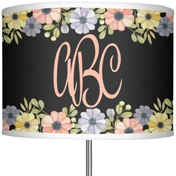 "Boho Floral 13"" Drum Lamp Shade (Personalized)"