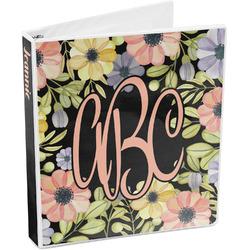 Boho Floral  3-Ring Binder (Personalized)