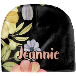 Boho Floral Baby Hat (Beanie) (Personalized)