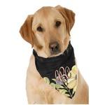 Boho Floral Dog Bandana Scarf w/ Monogram
