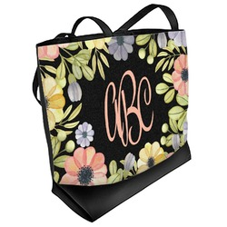 Boho Floral Beach Tote Bag (Personalized)