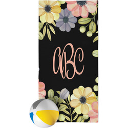 Boho Floral Beach Towel (Personalized)