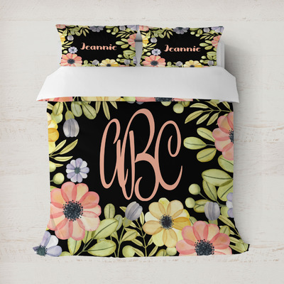 Boho Floral Duvet Covers (Personalized)