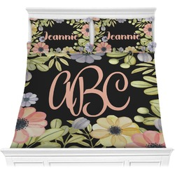 Boho Floral Comforter Set (Personalized)