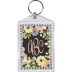 Boho Floral Bling Keychain (Personalized)