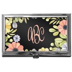 Boho Floral  Business Card Holder