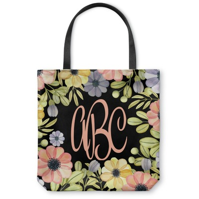 Boho Floral Canvas Tote Bag (Personalized)