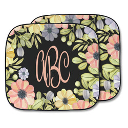 Boho Floral Car Sun Shade - Two Piece (Personalized)