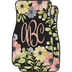 Boho Floral Car Floor Mats (Front Seat) (Personalized)