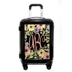 Boho Floral Carry On Hard Shell Suitcase (Personalized)