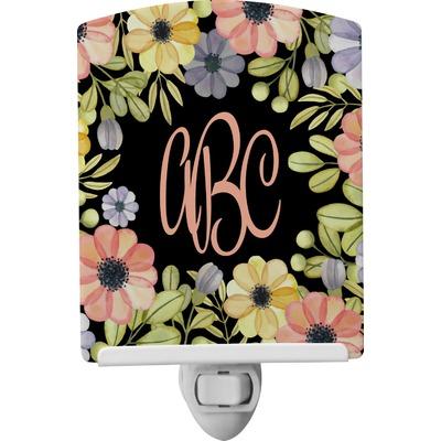 Boho Floral Ceramic Night Light (Personalized)