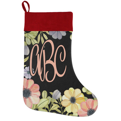 Boho Floral Holiday Stocking w/ Monogram