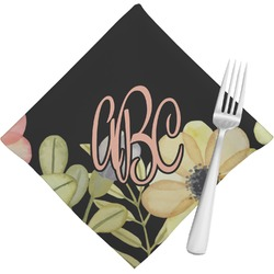 Boho Floral Napkins (Set of 4) (Personalized)