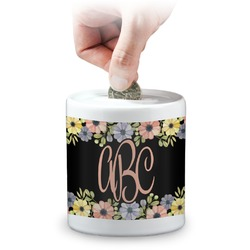Boho Floral  Coin Bank (Personalized)
