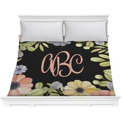 Boho Floral Comforter - King (Personalized)