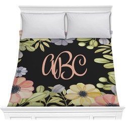 Boho Floral  Comforter (Personalized)