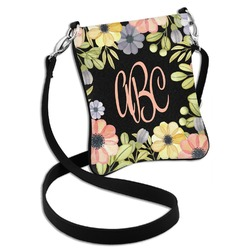 Boho Floral  Cross Body Bag - 2 Sizes (Personalized)