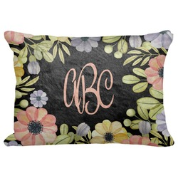 "Boho Floral Decorative Baby Pillowcase - 16""x12"" (Personalized)"