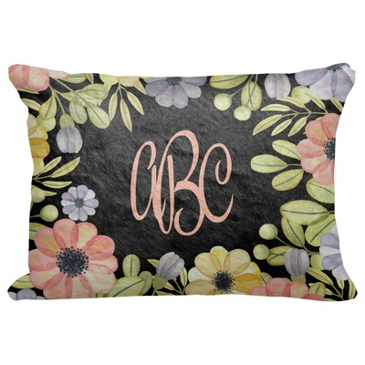 """Boho Floral Decorative Baby Pillowcase - 16""""x12"""" (Personalized)"""