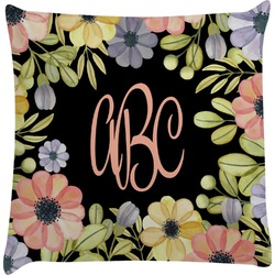 Boho Floral Decorative Pillow Case (Personalized)