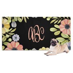 Boho Floral Pet Towel (Personalized)