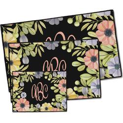 Boho Floral Door Mat (Personalized)