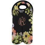 Boho Floral Wine Tote Bag (2 Bottles) (Personalized)