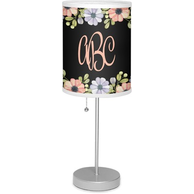 """Boho Floral 7"""" Drum Lamp with Shade (Personalized)"""