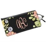 Boho Floral Genuine Leather Eyeglass Case (Personalized)