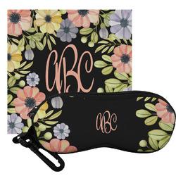 Boho Floral Eyeglass Case & Cloth (Personalized)