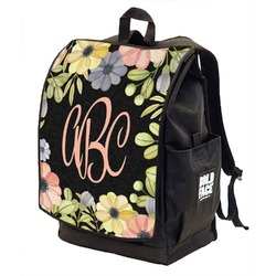 Boho Floral Backpack w/ Front Flap  (Personalized)