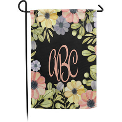 Boho Floral Garden Flag - Single or Double Sided (Personalized)