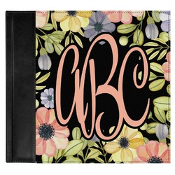 Boho Floral  Genuine Leather Baby Memory Book (Personalized)