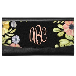 Boho Floral  Genuine Leather Ladies Wallet (Personalized)
