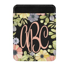 Boho Floral  Genuine Leather Money Clip (Personalized)