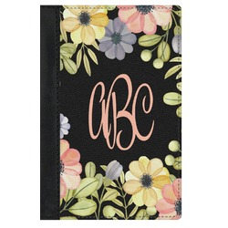 Boho Floral Genuine Leather Passport Cover (Personalized)