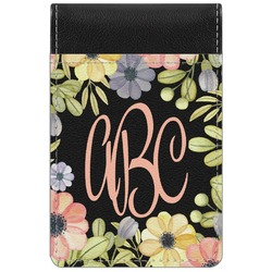 Boho Floral  Genuine Leather Small Memo Pad (Personalized)