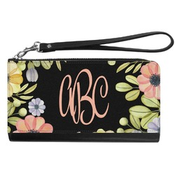 Boho Floral Genuine Leather Smartphone Wrist Wallet (Personalized)