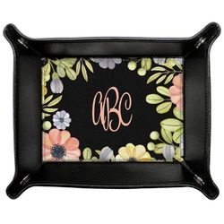 Boho Floral Genuine Leather Valet Tray (Personalized)