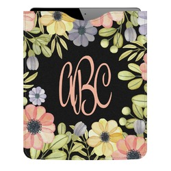Boho Floral Genuine Leather iPad Sleeve (Personalized)