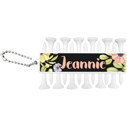 Boho Floral Golf Tees & Ball Markers Set (Personalized)