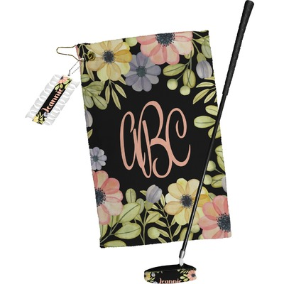 Boho Floral Golf Towel Gift Set (Personalized)
