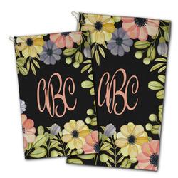 Boho Floral Golf Towel - Full Print w/ Monogram